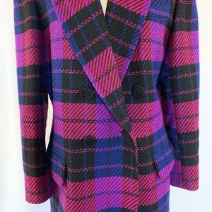 Vintage 80s Blazer Double Breasted Pink